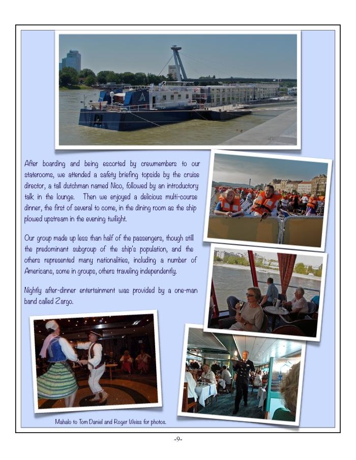 The Danube, 2012 Tour, 9